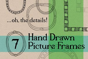 7 Hand Drawn Vector & Bitmap Frames