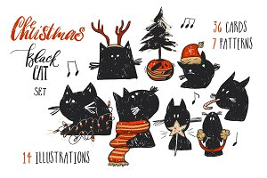 Christmas Black Cat