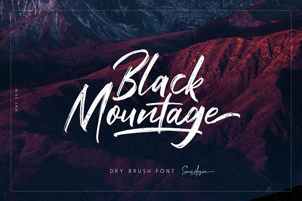 Script Fonts: Sarid Ezra - Black Mountage - Brush Font