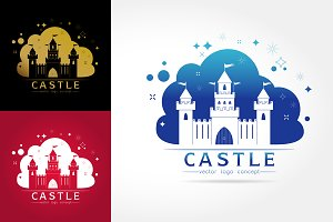 castle vector logo template