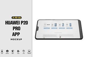 Huawei P20 Pro App Mockup Vol2