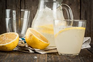 Classic sour and sweet lemonade