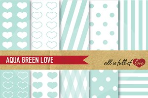 -60% Mint Green Digital Patterns