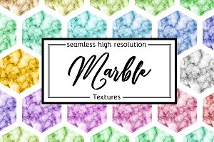 Marble digital seamless patterns