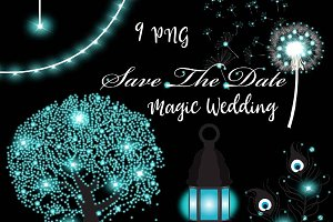 Magical Wedding Clipart