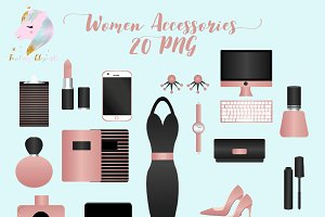 Woman Accessories Clipart