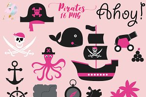 Pirate Girls Clipart