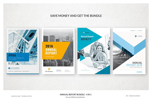 Annual Report Bundle 4 In 1