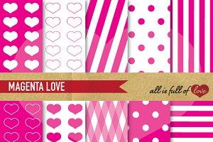 -60% Pink Scrapbook Paper Valentines