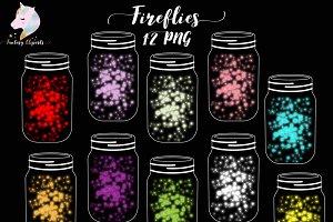 Fireflies Clipart