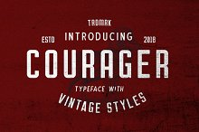 Courager Typeface (8 Fonts!) by Umar Al-Farouq in Sans Serif Fonts