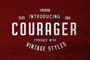Courager Typeface (8 Fonts!)