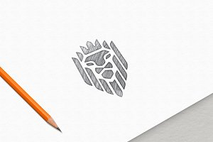 Sketch Effect Logo MockUp