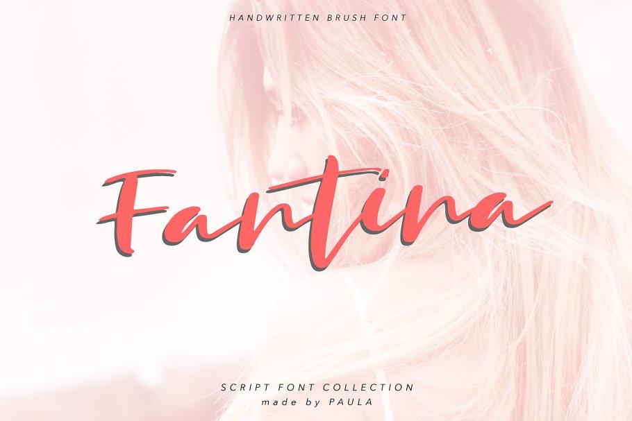 New! Fantina Script Font