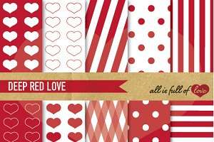 -40% Valentines Day Red Patterns