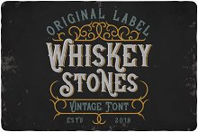 Whiskey Stones Typeface by Oleg Voznyy in Display Fonts
