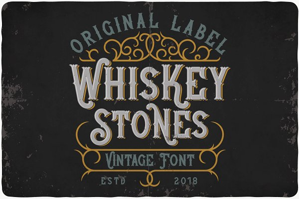 Display Fonts - Whiskey Stone Typeface