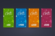 Vertical gift card template