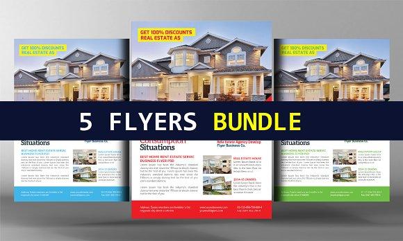 5 Real Estate Flyers Bundle