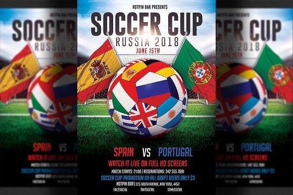 Football World Cup 2018 Flyer