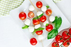 Caprese italian mozzarella salad