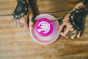 pink coffee time