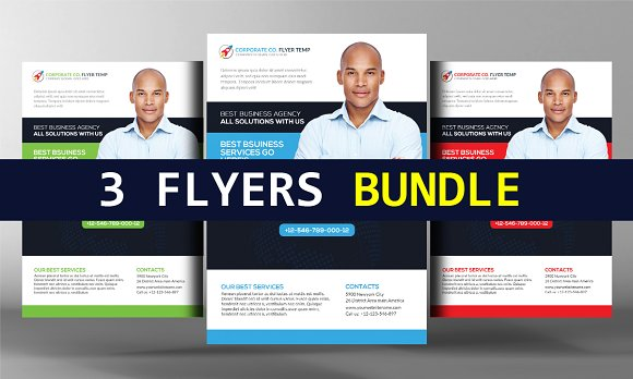 3 Accounting Firm Flyers Bundle