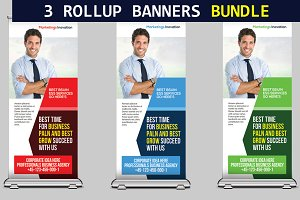 3 Corporate Business Rollup Banners