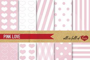 -20% Soft Pink Scrapbooking Paper