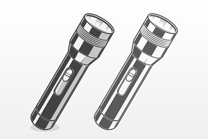 Silver Pocket Flashlight