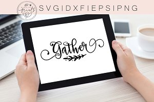 Gather SVG DXF EPS PNG
