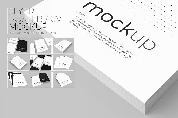 Flyer / Poster / CV Mockup