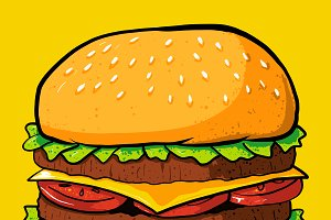 Cheeseburger Vector Illustration