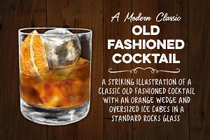 Classic Old Fashioned on the Rocks