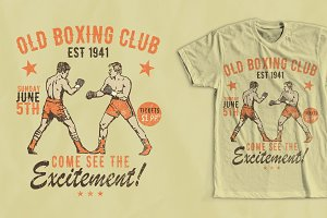 Old Boxing Club T-Shirt Design