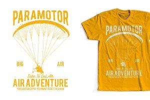 Paramotor T-Shirt Design