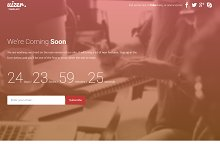 Uizer Bootstrap Coming Soon Template