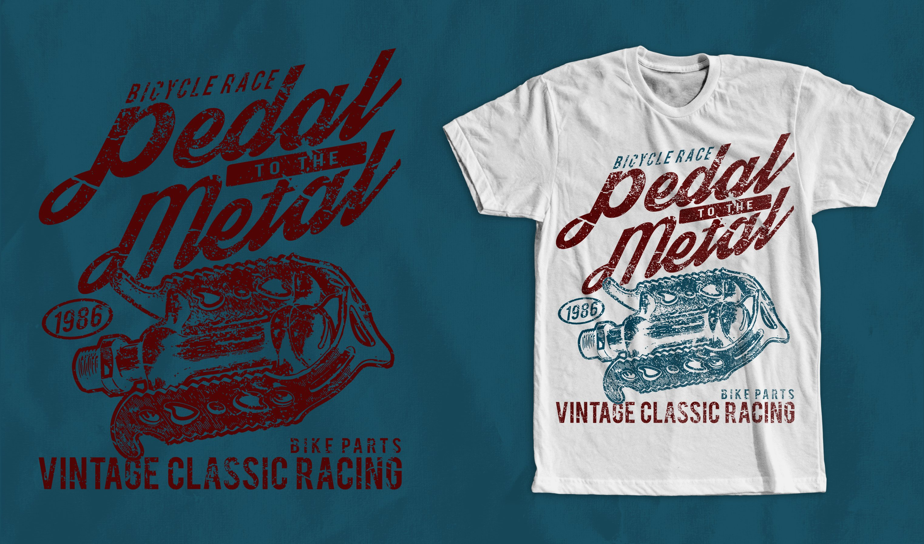 Pedal To The Metal T Shirt Design Illustrations Creative Market
