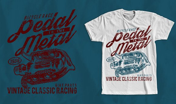 Pedal To The Metal T-Shirt Design