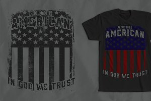 Proud American T-Shirt Design