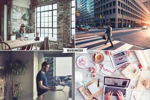 4 Business Photoshop Actions