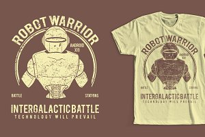 Robot Warrior T-Shirt Design