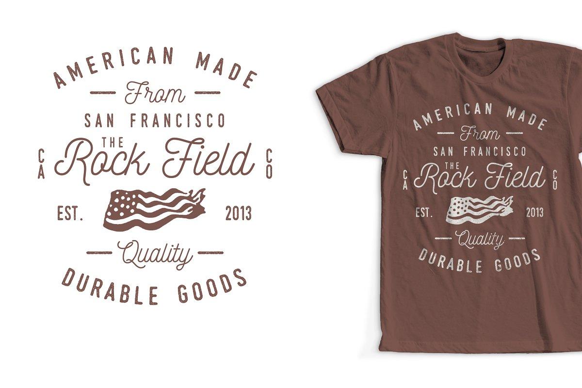 39bf862a32e Vintage Clothing Co T-Shirt Design ~ Illustrations ~ Creative Market