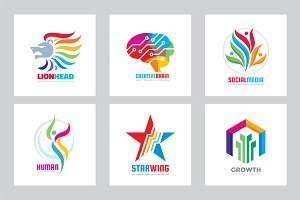 Positive Colorful Logo - Vector Set