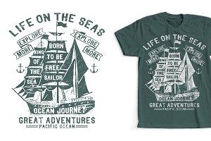 Sailing Ship T-Shirt Design