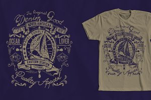 Sailing Ship T-Shirt Design 2