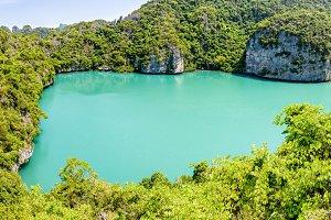 Panorama Thale Nai, Blue Lagoon (Emerald Lake)