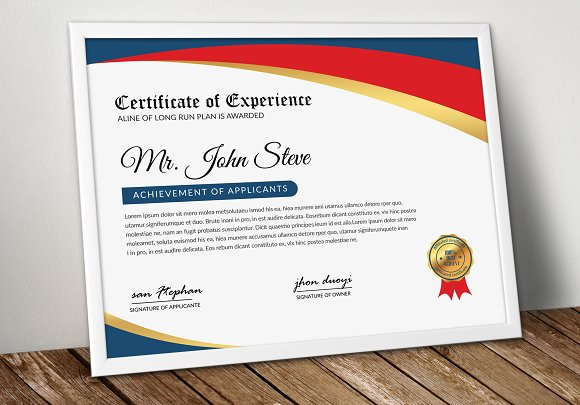 Company Word Certificate Template Stationery Templates Creative