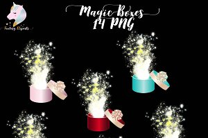 Magic Boxes Clipart