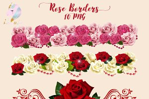 Rose Borders Clipart